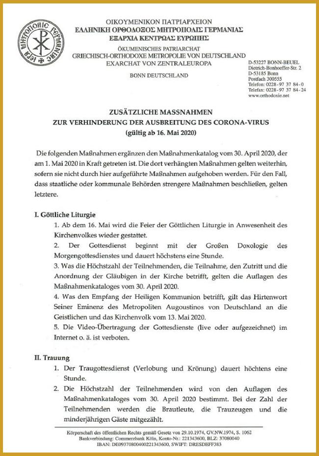 Zusätzliche Maßnahmen 13.5.2020